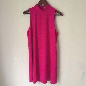 ALICE and OLIVIA Hot Pink A-line Shift Dress